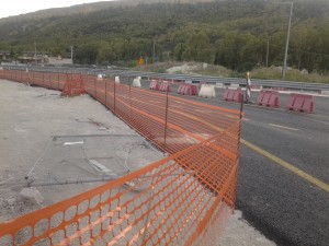 La corsia direzione Caltanissetta aperta a settembre all'altezza della rotonda Erg