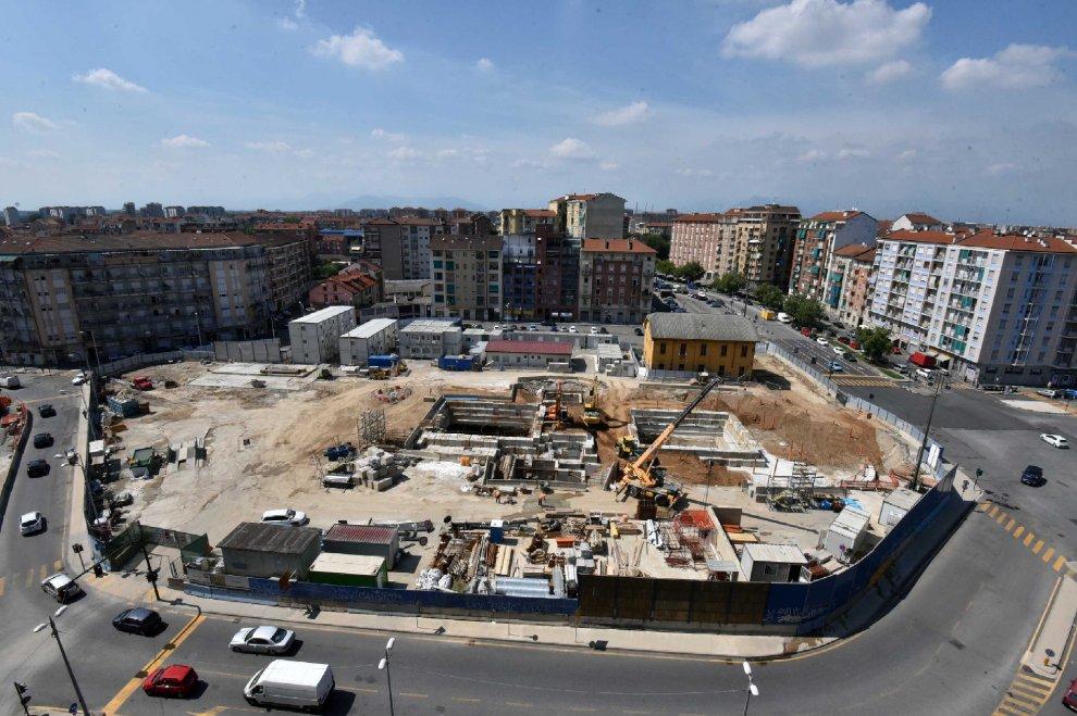 cantiere a piazza Bengasi (fonte torino.repubblica.it)
