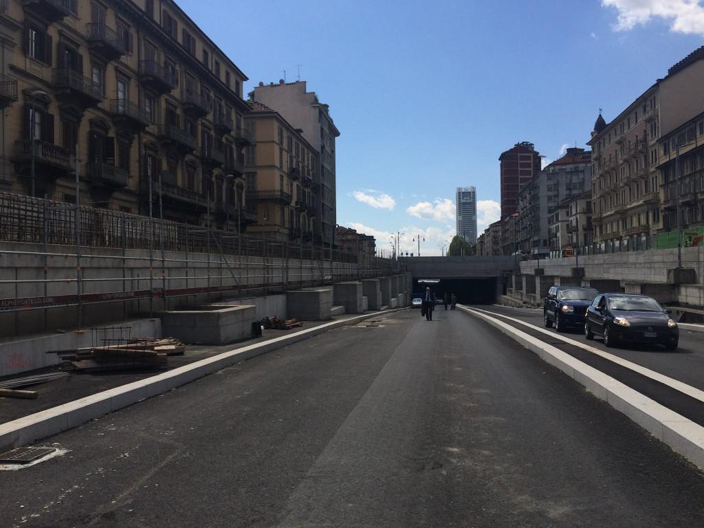 il nuovo sottopasso Statuto ( immagine di torinotoday)
