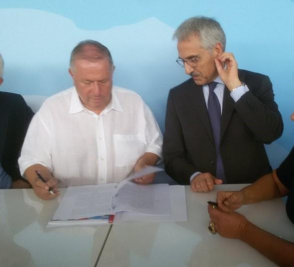 Luigi Bosco, Assessore delle Infrastrutture e della Mobilità della Regione Siciliana e Maurizio Gentile, amministratore delegato di RFI