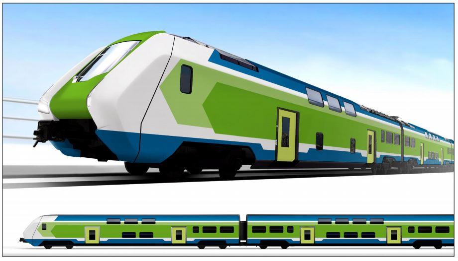 Applicazione della livrea sul treno Caravaggio di Hitachi