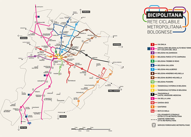 Bicipolitana-mappa