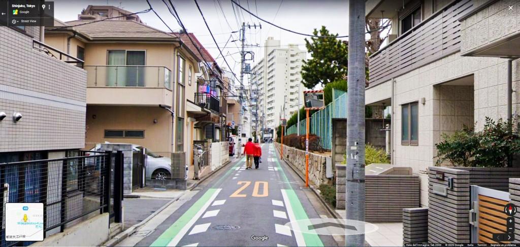 Strada a priorità pedonale a Tokyo